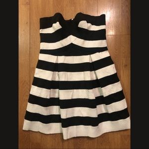 Black and white stripped cocktail dress